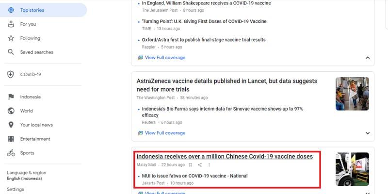 Berita Dalam Negeri Google News