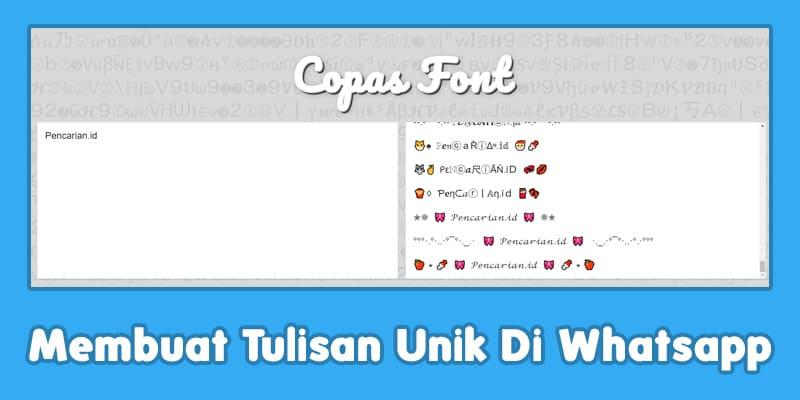 Mengubah Font Whatsapp