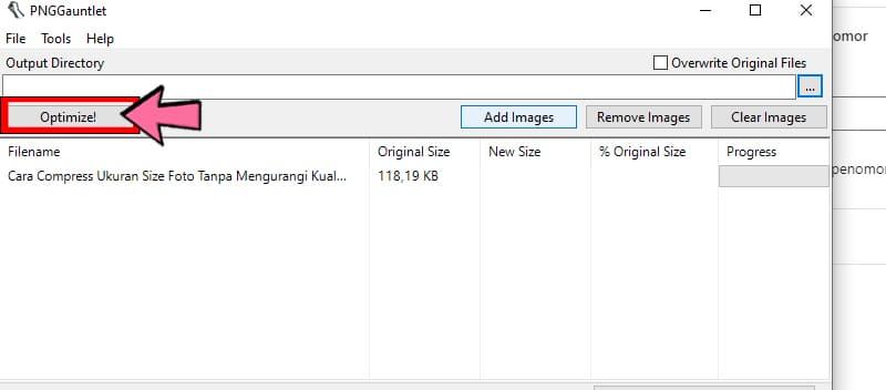 Optimize Foto Size