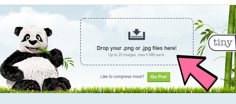 TinyPNG untuk mengecilkan ukuran Foto