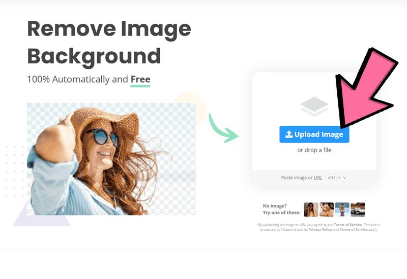 Upload Gambar Atau Foto Menghapus Background