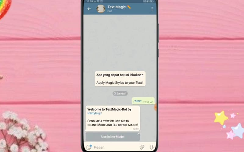 Bot Telegram Sudah Berjalan
