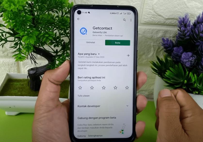 Install Aplikasi GetContact