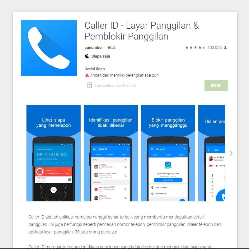 Mengetahui Nama Pengirim Chat WhatsApp Melalui Caller ID