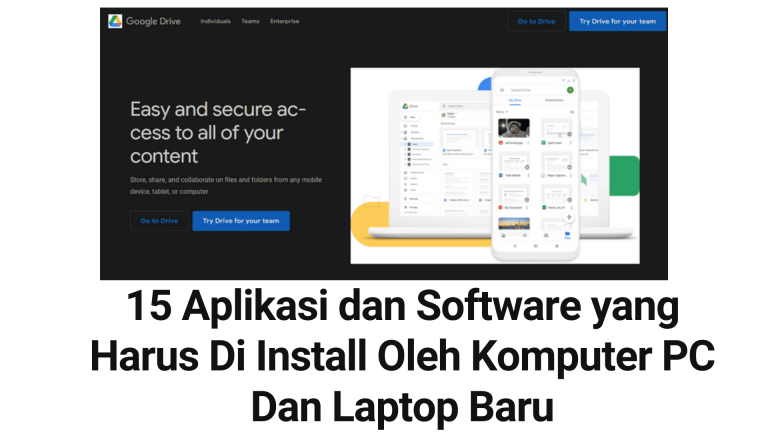 15 Aplikasi dan Software yang Harus Di Install Oleh Komputer PC Dan Laptop Baru