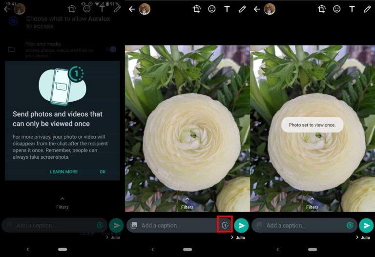 """Cara Mengirim Foto dan Video Agar Hanya Bisa """"Dilihat Sekali"""" di WhatsApp"""