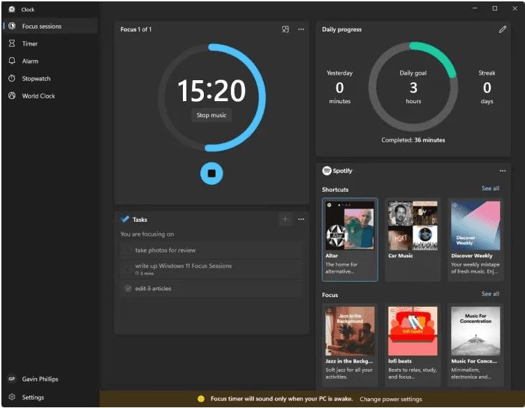 Cara Menggunakan Sesi Fokus Windows 11